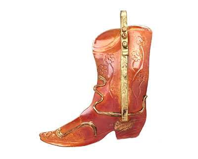 Patricia Healey Copper Cowgirl Boot Pendant 49x57mm