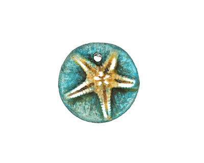 Humble Beads Polymer Clay Tiny Starfish Charm 16mm