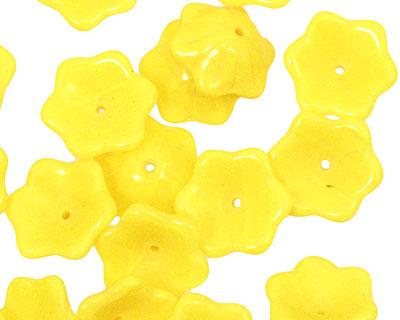 Czech Glass Citrus 6 Petal Daisy 4x12