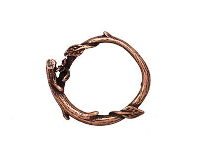 Ezel Findings Antique Copper Branch Wreath Link 24x21mm