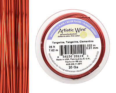 Artistic Wire Silver Plated Tangerine 20 gauge, 25 feet