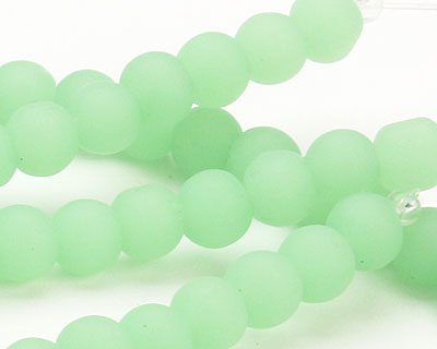 Opaque Seafoam Green Recycled Glass Round 6mm