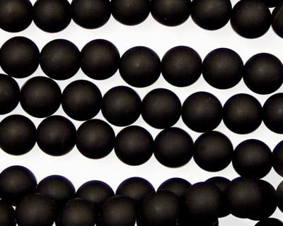 Brazil Black Stone (matte-finish) Round 6mm