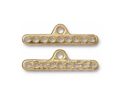 TierraCast Gold (plated) 9-Hole End Bar 8x28mm