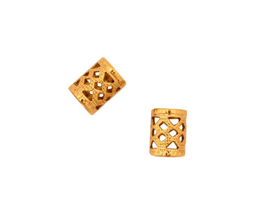 Stampt Antique Gold (plated) Filigree Tube 8x6mm