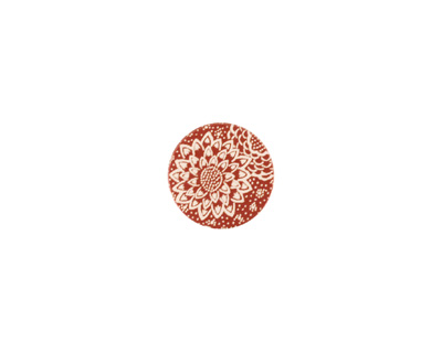 Lillypilly Bronze Dahlia Anodized Aluminum Disc 11mm, 24 gauge