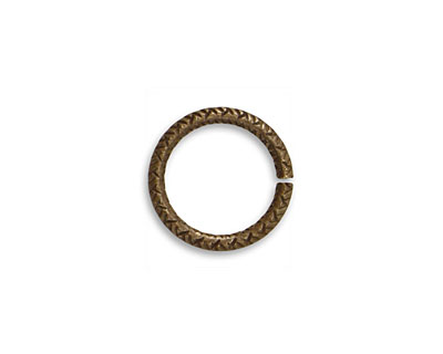 Vintaj Natural Brass Cross Hatch Jump Ring 14.5mm