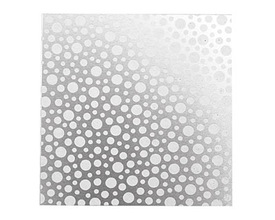 Lillypilly Silver Scattered Dots Anodized Aluminum Sheet 3