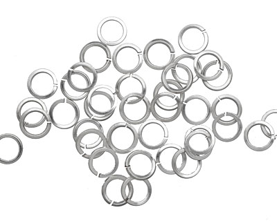 Artistic Wire Silver (plated) Square Wire Chain Maille Jump Ring 5.56mm, 18 gauge