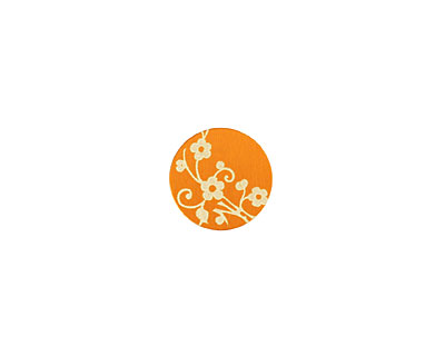 Lillypilly Orange Floral Vine Anodized Aluminum Disc 11mm, 24 gauge