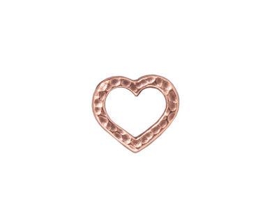 TierraCast Antique Copper (plated) Hammertone Heart Link 14x12mm