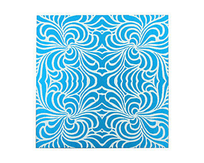 Lillypilly Turquoise Morphed Anodized Aluminum Sheet 3