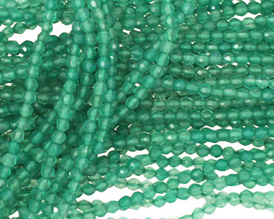 Green Aventurine Faceted Round 2mm