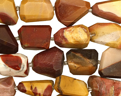 Mookaite Faceted Nugget 11-15x9-11mm