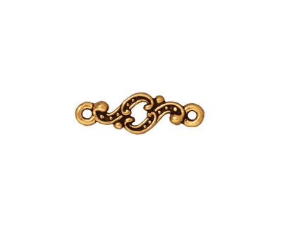 TierraCast Antique Gold (plated) Minuet Link 20x7mm