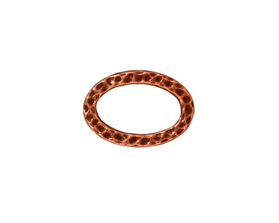 TierraCast Antique Copper (plated) Hammertone Oval Ring 18x12mm