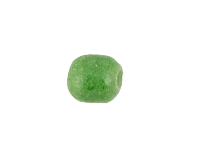 African Powder Glass (Krobo) Jade Green Tumbled Round 10-12mm