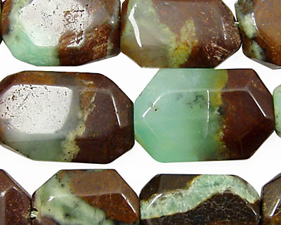 Chrysoprase (with brown) Flat Slab 18x12-30x15mm