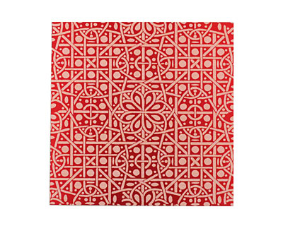 Lillypilly Red Cross Stitch Anodized Aluminum Sheet 3