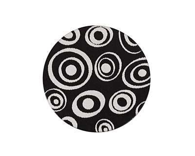 Lillypilly Black Groovy Circles Anodized Aluminum Disc 25mm, 22 gauge