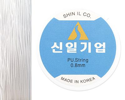 Shin Il Clear Elastic Stretch Cord 0.8mm, 4.5 meter spool