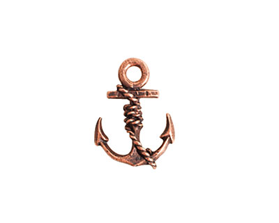 Nunn Design Antique Copper (plated) Anchor Charm 13x18mm