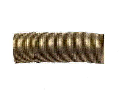 Memory Wire Antique Brass (plated) Ring .5 oz.