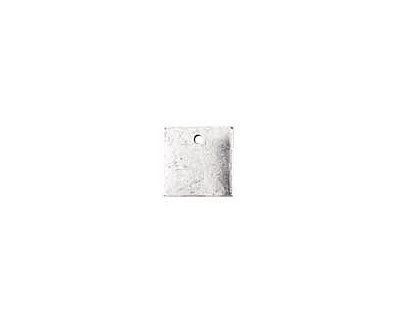 Nunn Design Antique Silver (plated) Flat Mini Square Tag 13mm