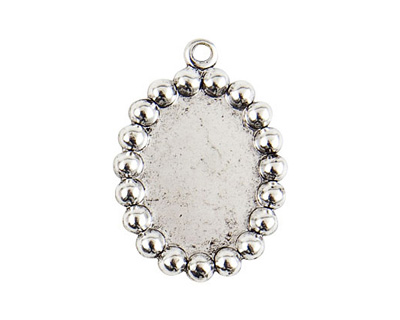 Nunn Design Antique Silver (plated) Vetri Beaded Oval Frame 20x28mm