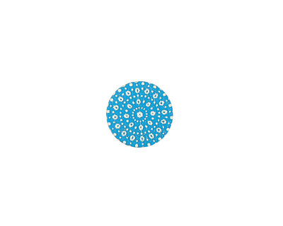 Lillypilly Turquoise Crochet Anodized Aluminum Disc 11mm, 24 gauge