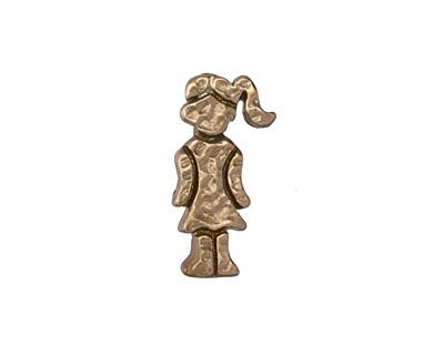 Patricia Healey Bronze Girl in Dress 10mm Flat Slide 10x20mm