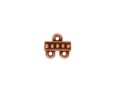 TierraCast Antique Copper (plated) Beaded 2-1 Link 10mm