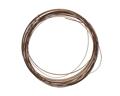 Soft Flex Vintage Bronze Half Round Craft Wire 21 gauge, 7 yards