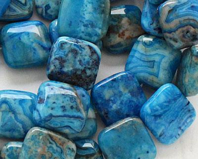 Larimar Blue Crazy Lace Puff Square 18mm