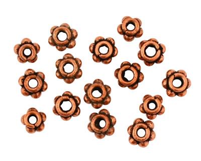 Antique Copper Beaded Rondelle 4x7mm