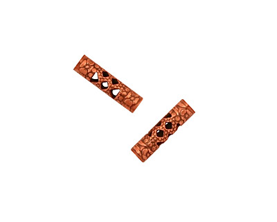 Stampt Antique Copper (plated) Filigree Tube 11x3mm