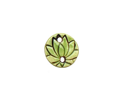 Earthenwood Studio Ceramic Lime Lotus Link 18mm