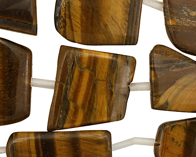 Tiger Eye Flat Freeform Slab 24-34x14x29mm
