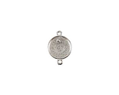 Nunn Design Sterling Silver (plated) Mini Circle Frame Link 20x15mm