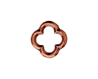 TierraCast Antique Copper (plated) Medium Quatrefoil Link 16mm