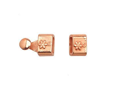 Copper (plated) Flower Clasp 16x7mm