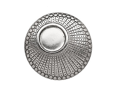 Stampt Antique Pewter (plated) Dotted Setting 34mm (no drill hole)