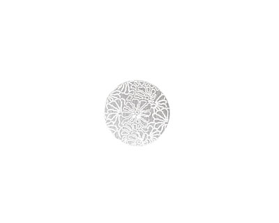 Lillypilly Silver Weathered Daisy Anodized Aluminum Disc 11mm, 22 gauge