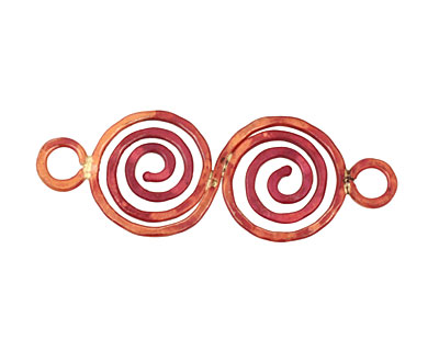 Patricia Healey Copper Double Spiral Link 72x26mm