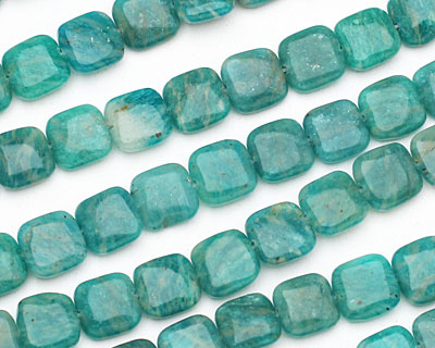 Russian Amazonite Puff Square 10mm