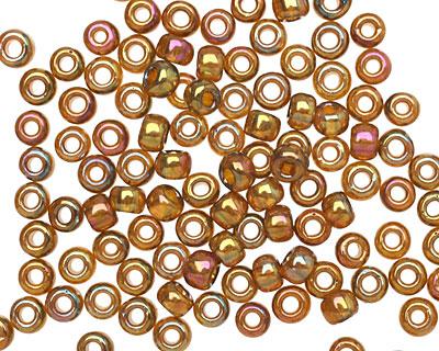 TOHO Gold Lustered Dark Topaz Round 6/0 Seed Bead