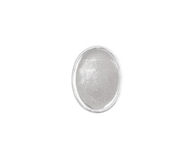 Nunn Design Sterling Silver (plated) Small Oval Frame Button 13x16mm