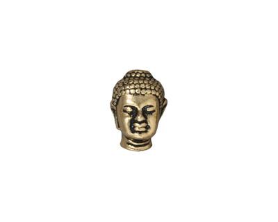 TierraCast Antique Gold (plated) Buddha Bead 13x10mm