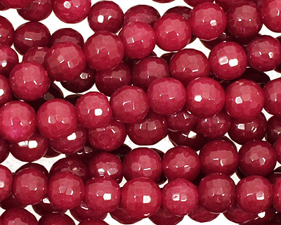 Ruby Jade Faceted Round 6mm