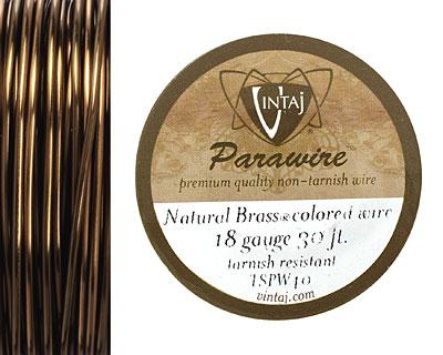 Vintaj Natural Brass Parawire 18 gauge, 30 feet